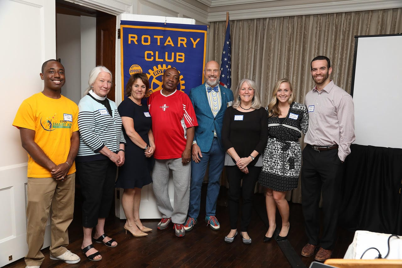Group photo at the local Rotary Club